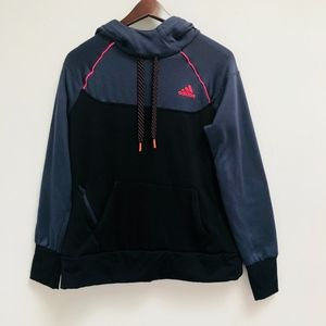 Gray/black ADIDAS Women's Climawarm hoodie size M